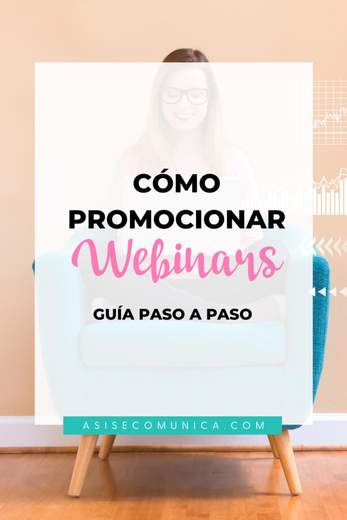 cómo promocionar un webinar